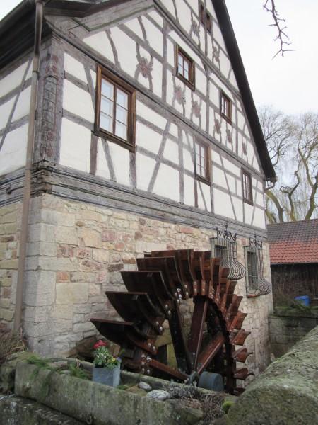 Neues Mühlrad Dickasmühle