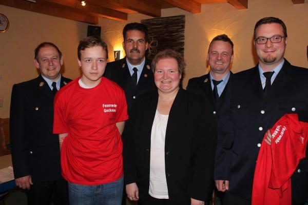Aufnahme Feuerwehr Anton Härder und Christian Mutz